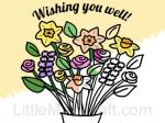 Get Well Flowers in Vase Coloring Page