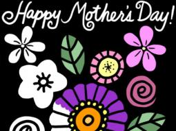 Mother's Day Simple Flowers Coloring Page