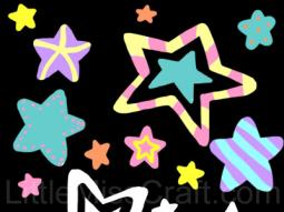 Stars Doodle Coloring Page