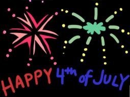 July 4th Fireworks Coloring Page