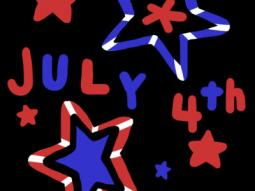 July 4th Stars Coloring Page