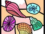 Seashell Stained Glass Coloring Page