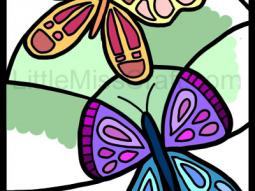 Butterfly Large Coloring Page