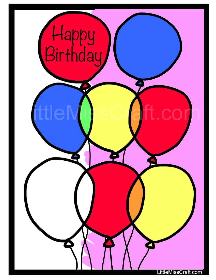 Crafts Balloon Birthday Coloring Page