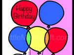 Balloon Birthday Coloring Page