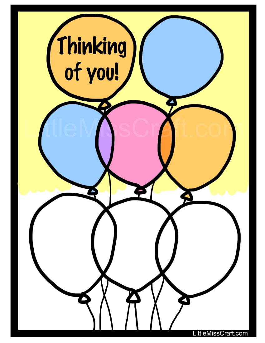 balloon thinking of you coloring page - Thinking Of You Coloring Pages