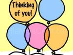 Balloon Thinking of You Coloring Page
