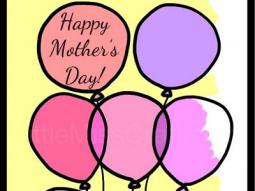 Balloon Mother's Day Coloring Page