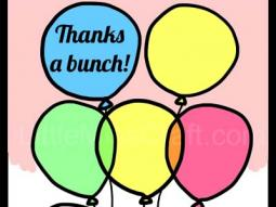 Balloon Thank You Coloring Page