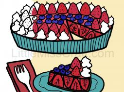 Strawberry Pie Coloring Page