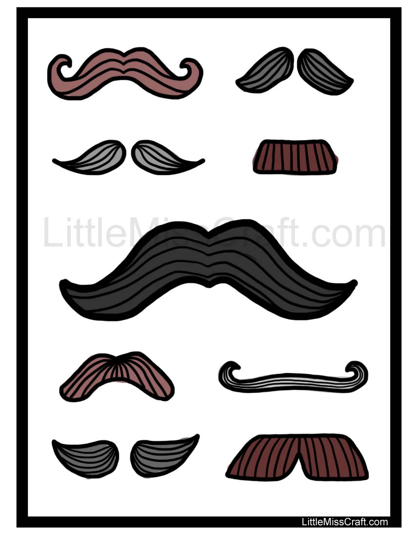 Moustache Coloring Pages #10