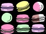 French Macarons Chalkboard Coloring Page