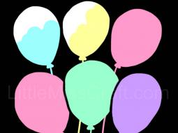 Balloons Chalkboard Coloring Page