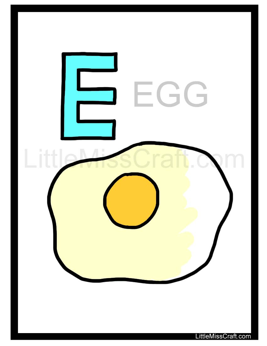 crafts egg alphabet coloring page