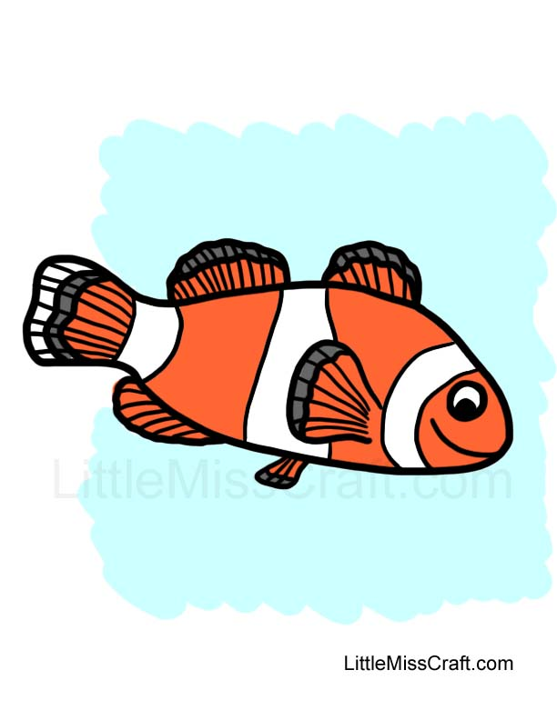 Worksheet. Crafts  Clownfish Coloring Page