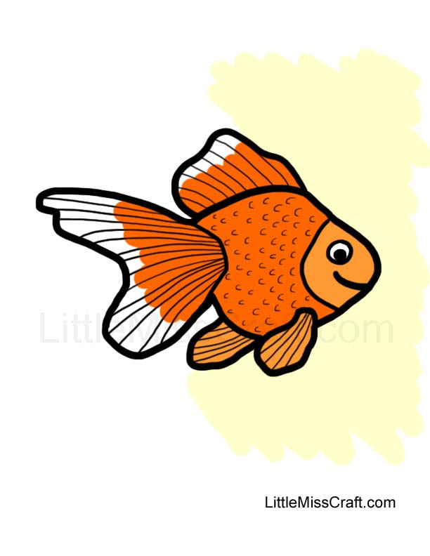 Crafts Goldfish Coloring Page
