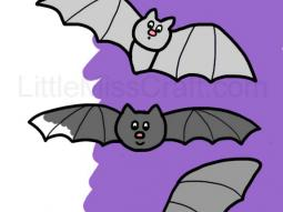 Bats Simple Coloring Page