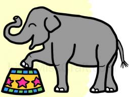 Elephant Circus Coloring Page