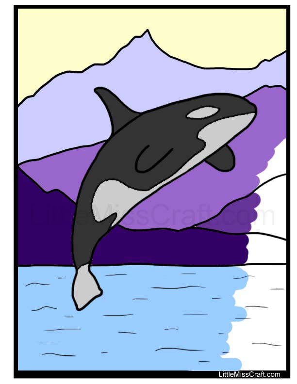 killer whale coloring page - Whale Coloring Page