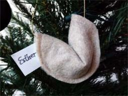 Felt Fortune Cookie Ornament Craft