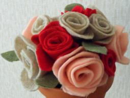 Felt Rose Flower Craft