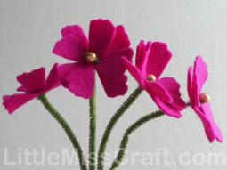 Cosmos Felt Flower Craft