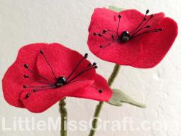Poppy Felt Flower Craft