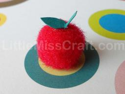Apple Fuzzy Pom Craft