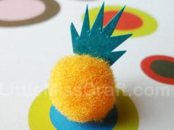 Pineapple Fuzzy Pom Craft