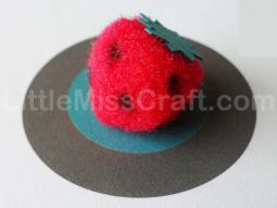 Strawberry Fuzzy Pom Craft
