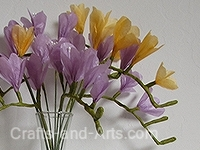 Freesia Tissue Paper Flowers Craft