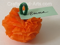 Pumpkin Patch Poms Craft