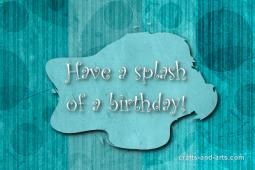 Splash of a Birthday Craft