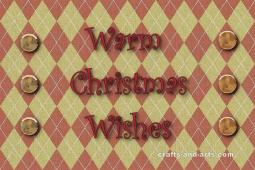 Warm Christmas Wishes Card