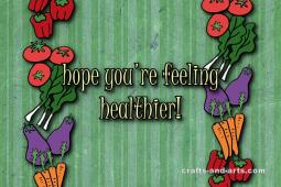 Healthy Veggie Get Well Card