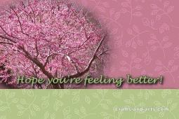 Feeling Better Blossoms Get Well Printable Card