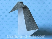 Penguin Origami Craft