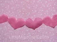 Heart Streamer Garland Craft