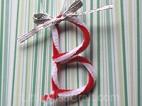 Candy Cane Alphabet Craft