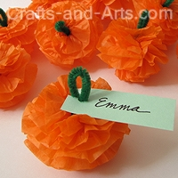 paper tissue flower craft