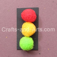 Traffic light clip craft
